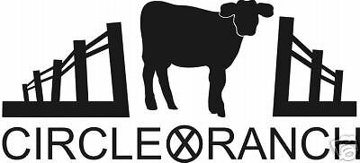 Cow Cattle Farm Ranch Vinyl Decal Signs Personalized