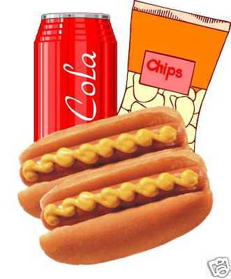 """Concession Hot Dogs Cart Trailer Food Sign Decal 14"""""""