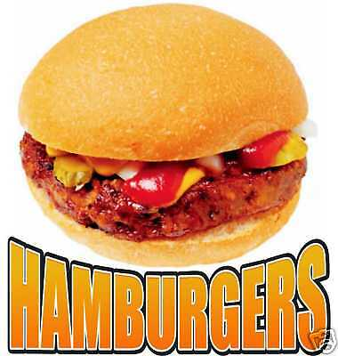 Hamburger Burgers Restaurant Concession Food Decal 12""