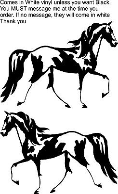 Horse Spotted Saddle Equestrian Trailer Truck Decal 7""