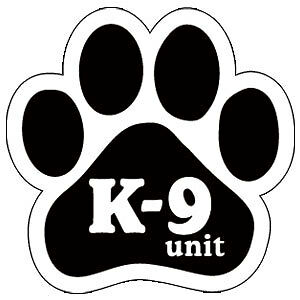 """K-9 UNIT "" Dog Paw Car Magnet **QUALITY**"