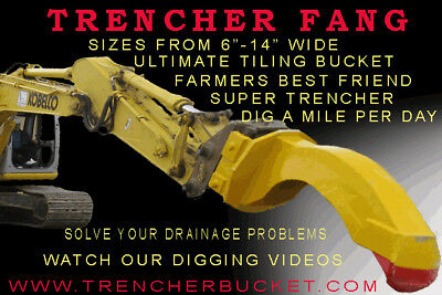 TRENCHING BUCKET  Fang for Excavator, Mini or Backhoe