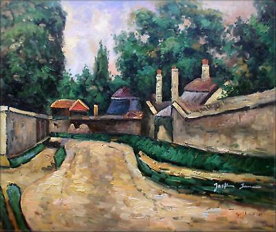 Quality Hand Painted Oil Painting Repro Paul Cezanne Houses on Roadside 20x24in