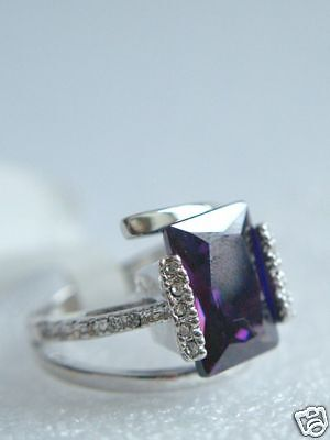 Cocktailring AMETHYST + Kristalle * exclusiver Traum!