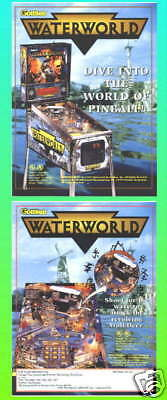 Waterworld Gottlieb Pinball Advertising Flyer