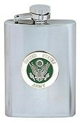 Army  8 Ounce Military Stainless Steel  Flask
