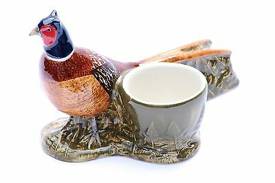 Pheasant egg cup collectable shooting gift by Quail pottery Boxed