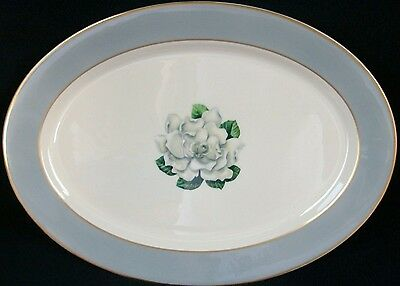 SYRACUSE CHINA AVALON~GOLD TRIM OVAL SERVING PLATTER 14 1/8""