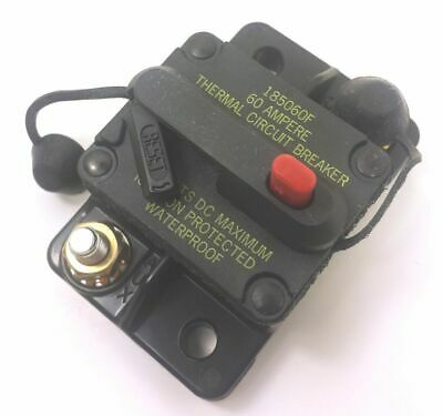 Bussman DC Circuit Breaker 60 Amp Surface Mt. 185060F