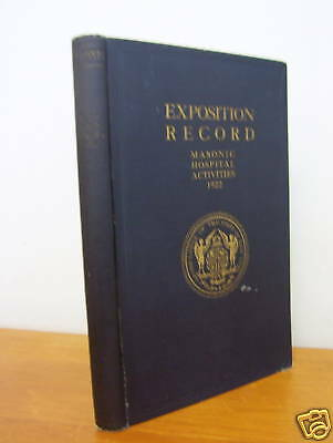 1922 Exposition Record & History of Masonry in New York
