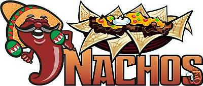 Nachos Chips Mexican Concession Food Sign Decal 14""