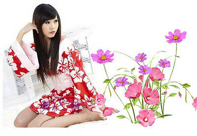 Japanese Kimono Sweety Red White Floral Cosplay Costume