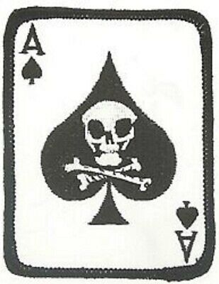 Ace Of Spades Death Card Vietnam Military  Patch