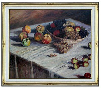 Framed Hand Painted Oil Painting Repro Claude Monet Apples & Grapes 20x24in