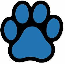 Blue Mini Paw car magnet  ***QUALITY***