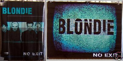 """BLONDIE """"No Exit"""" 18""""x24"""" RARE 2-SIDED PROMO POSTER"""