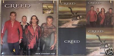 """CREED """"Human Clay"""" 24""""x24"""" 2-SIDED PROMO POSTER ©1999"""