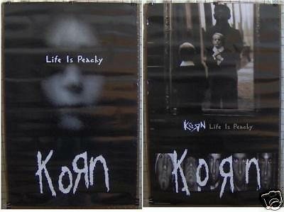 """KORN """"Life Is Peachy"""" 23x36"""" 2-SIDED PROMO POSTER ©1996"""