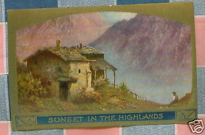 Old Postcard  Sunset in the Highlands  Gorgeous Scenic