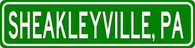 SHEAKLEYVILLE, PENNSYLVANIA  City Limit Sign - Aluminum