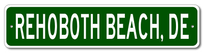 REHOBOTH BEACH, DELAWARE  City Limit Sign - Aluminum