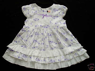 New Lilac Floral Cotton Party Dress 9-12 Months