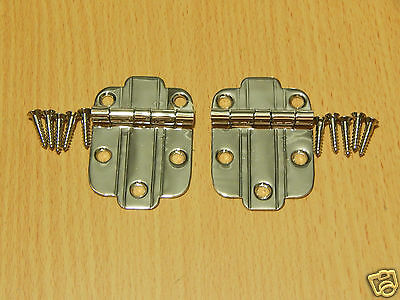 Hinge for Hoosier Wilson Sellers Napanee Cabinet - Pair Nickel Plated