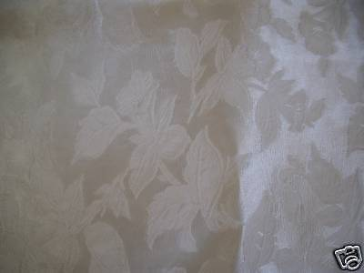 Vintage,White,Viscose and Cotton Damask,Cope Panel