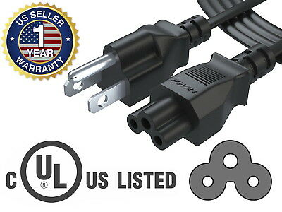 Pwr+® 6Ft 3Prong AC Power Cord Cable for Dell Hp Compaq Asus Sony Laptop Charger