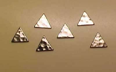 Hammered TRIANGLES for Model Horse Costumes - SILVER
