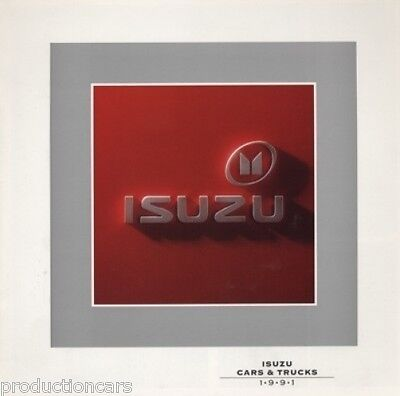 1991 Isuzu Line Sales Brochure Impulse Stylus Trooper