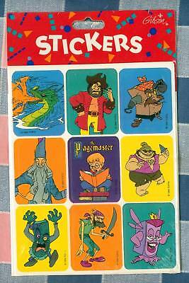 NIP Gibson Stickers The Pagemaster  The Movie 4 Sheets