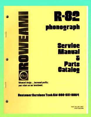 Rowe R-82 Jukebox Service Manual