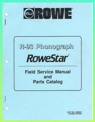 Rowe R-93 Jukebox Service & Parts Manual