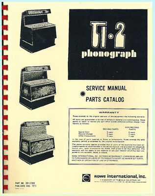 Rowe TI 2 Jukebox Service & Parts Manual
