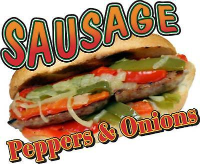 Sausage Peppers Onions Concession Food Menu Decal 14""