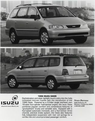 1996 Isuzu Oasis Van Press Photo and Press Release