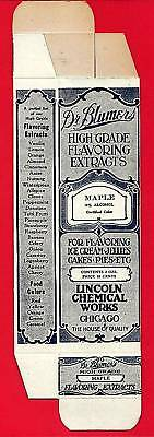 Dr Blumer Maple Flavor Extract Box Lincoln Chem Chicago