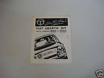 advertising Pubblicità 1964 FIAT ABARTH OT