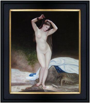 Framed Quality Hand Painted Oil Painting Repro Bouguereau Bather 20x24in