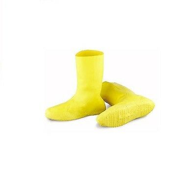 Hazmat Boot Covers Yellow Latex Oil Spill Slop Size XL HALLOWEEN