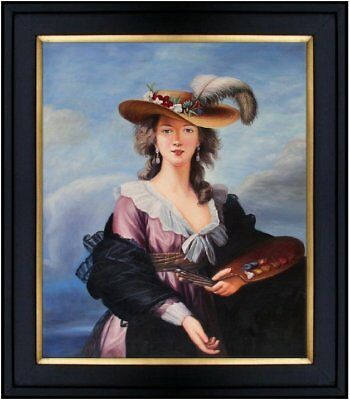 Framed Hand Painted Oil Painting Repr Louise Elisabeth Self-Portrait 20x24in