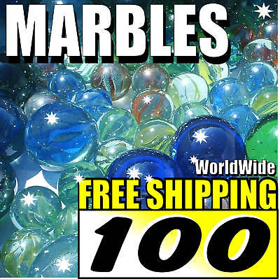 100 New Lot Colourful Marbles Toy Game Present FREE S/H