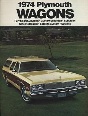 1974 Plymouth Satellite Fury Station Wagon Sales Brochure Catalog