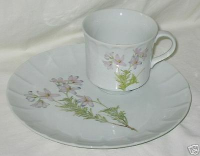 Fine China Toscany Lima Snack Plate & Cup
