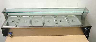 NEW ACE 6x1/3 gastronome Wet Well Bain Marie with temp