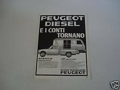 advertising Pubblicità 1981 PEUGEOT 504 PICK-UP/J9