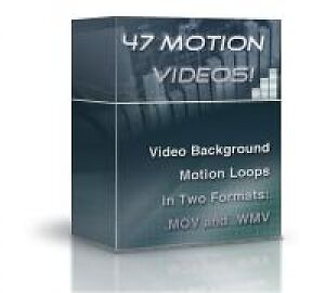 47 video background motion loops on CD