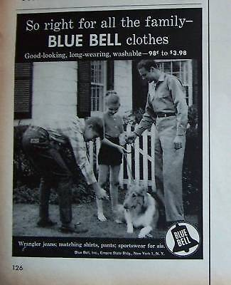 1957 Blue Bell Workwear Jeans Work Clothing Ad