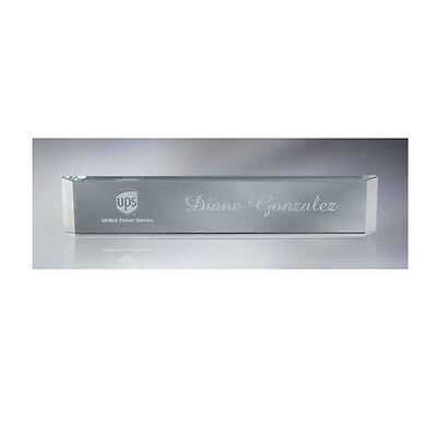 Personalized GLASS NAME PLATE for work office desk GIFT